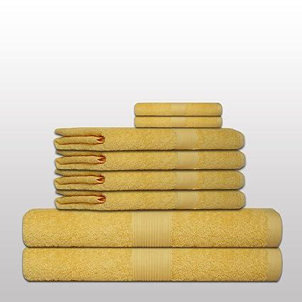 Set de 8 Toallas clásico -. Calidad 500 g / m² - todos los colores