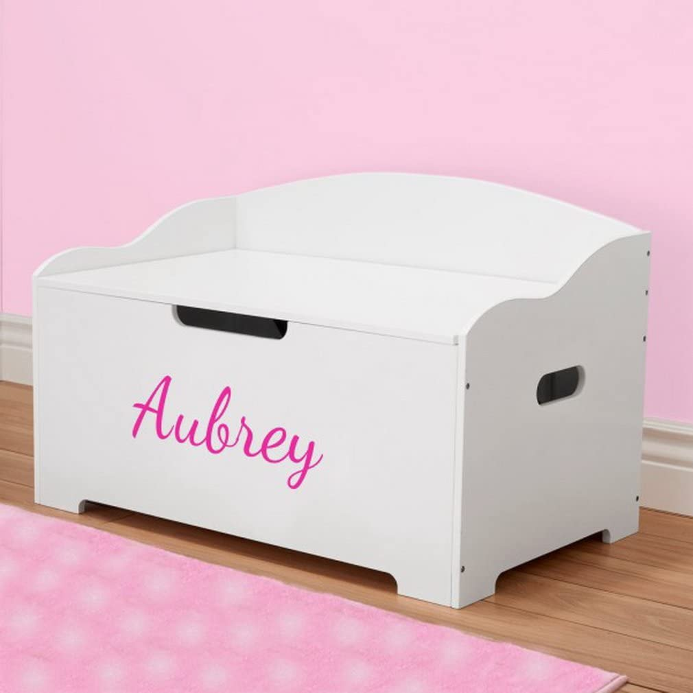 Handmade solid wooden Toy Box with soft closing lid personalised