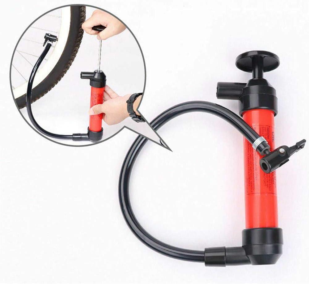 Hand Transfer Pump Syphon Pump 200cc Capacity 50inch Hose Manual Siphon Pumps for Fuel Oil Diesel Petrol Gas Water