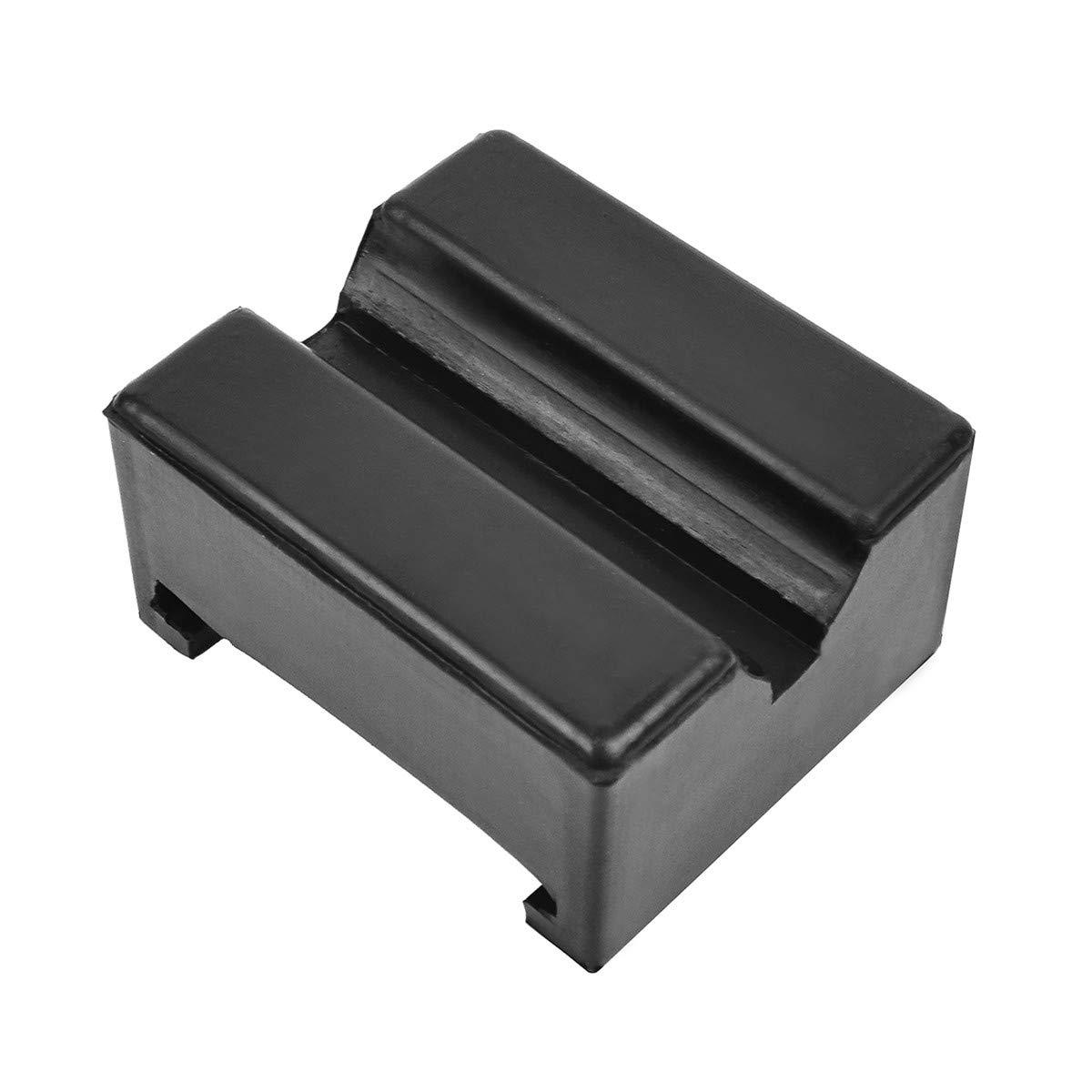 TONGXU Bloque de Goma Forma Cuadrada con Ranura Gato Jack Lift Pad Adaptador de Almohadilla de Elevaci/ón para Protector Veh/ículos Elevador Coche Negro