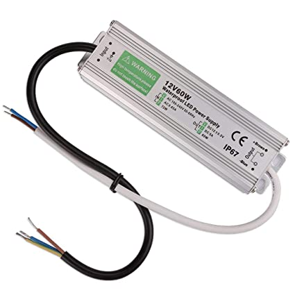 waterproof 60w led transformer, ip67 led power supply driver transformer  adapter to 12 volt dc