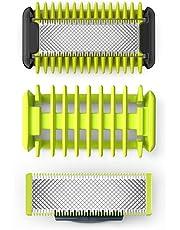 Philips QP620/50 OneBlade Kit Lames Visage + Corps (2 Lames + 1 Système de Protection des Zones Sensibles + 1 Sabot Corps)