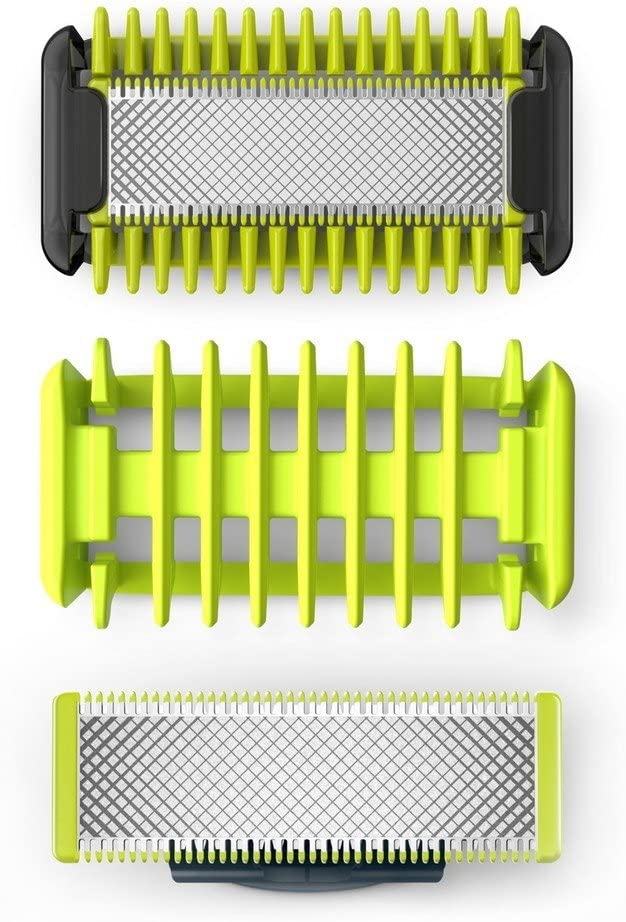 Philips OneBlade cara y cuerpo QP620/50 - Cuchilla de recambio para Philips OneBlade cara y cuerpo, 1 cuchilla para cuerpo, 1 para cara y 1 peine-guía