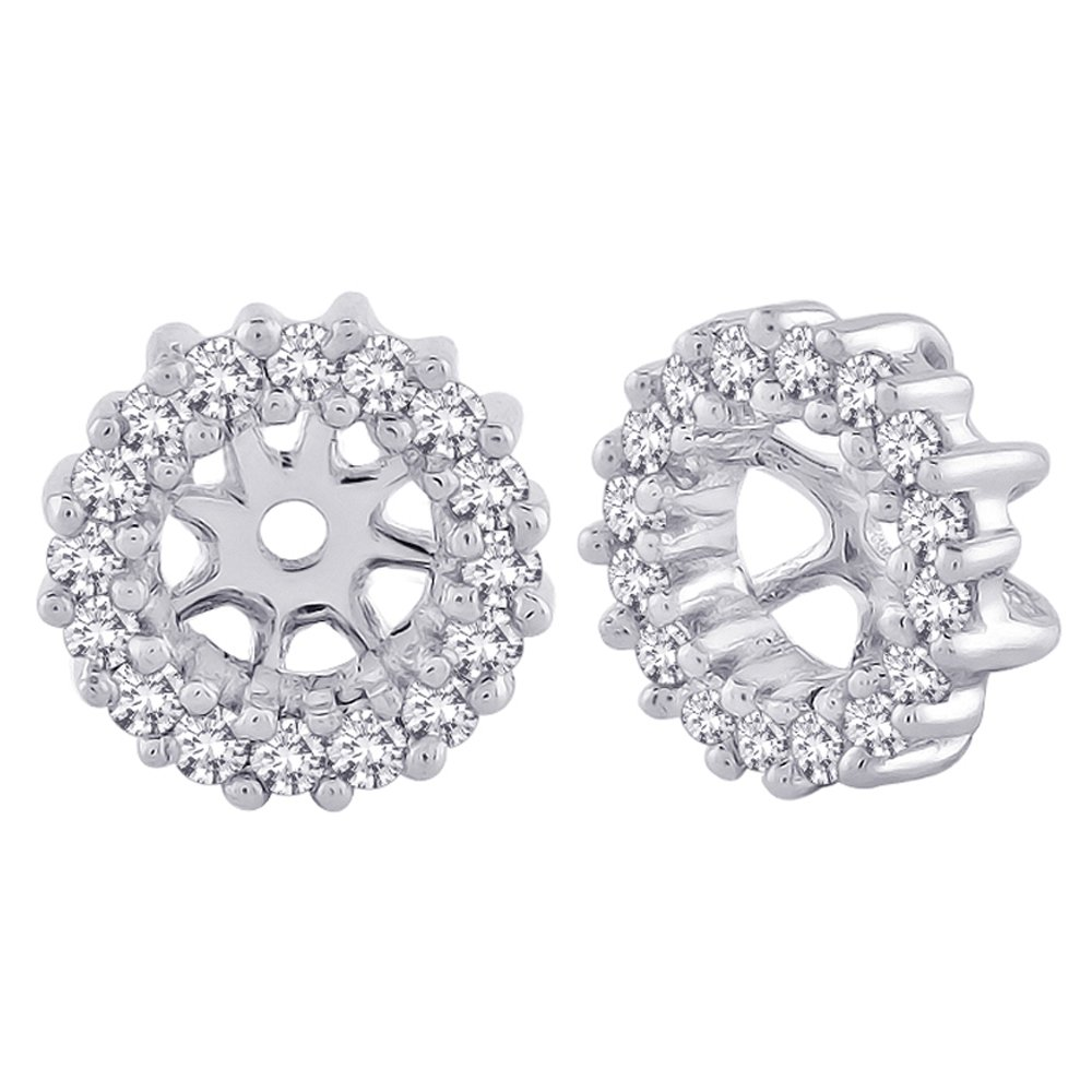 Diamond Earring Jackets in 10K White Gold (1/4 cttw) (Color JK, Clarity I2-I3) by KATARINA