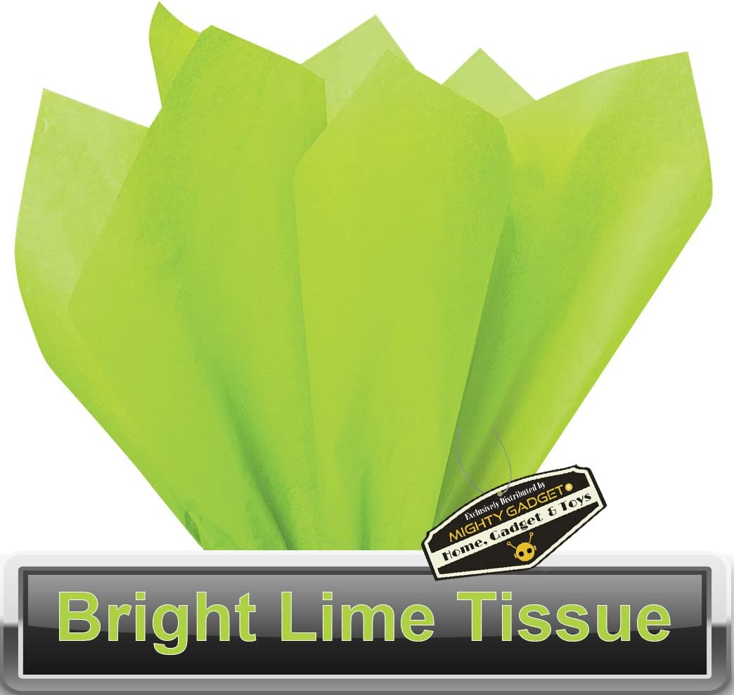 15 x 20 Lime Green Tissue Wrapping Paper 100 pc Mighty Gadget R