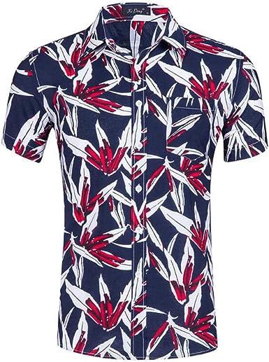 Oneforus Camisa Hawaiana de Manga Corta para Hombre Playera de Playa y Ocio: Amazon.es: Ropa y accesorios