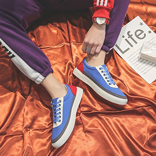 Daily Travel Shoes Men Blue Shoes Casual Shoes Comfortable Color Plate Patchwork Sports fZwZT4Sn7