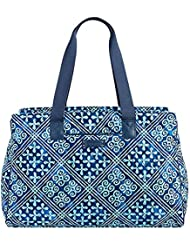 Vera Bradley Triple Compartment Travel Bag, Signature Cotton