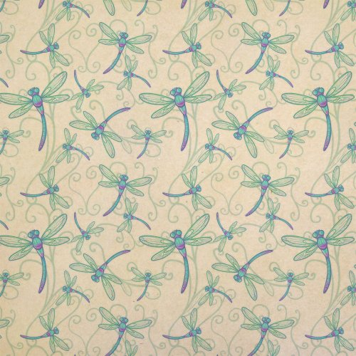 Delicate Dragonfly Kraft Present Gift Wrap Wrapping Paper