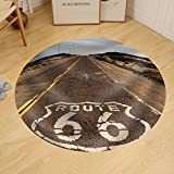 Gzhihine Custom round floor mat The historic route 66 road still survives in the southwest