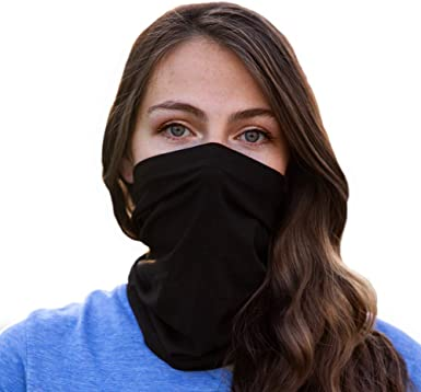 Bamboo Neck Gaiter for Men & Women | Breathable UV Dust Protection |  Washable & Reusable | Black at Amazon Women's Clothing store
