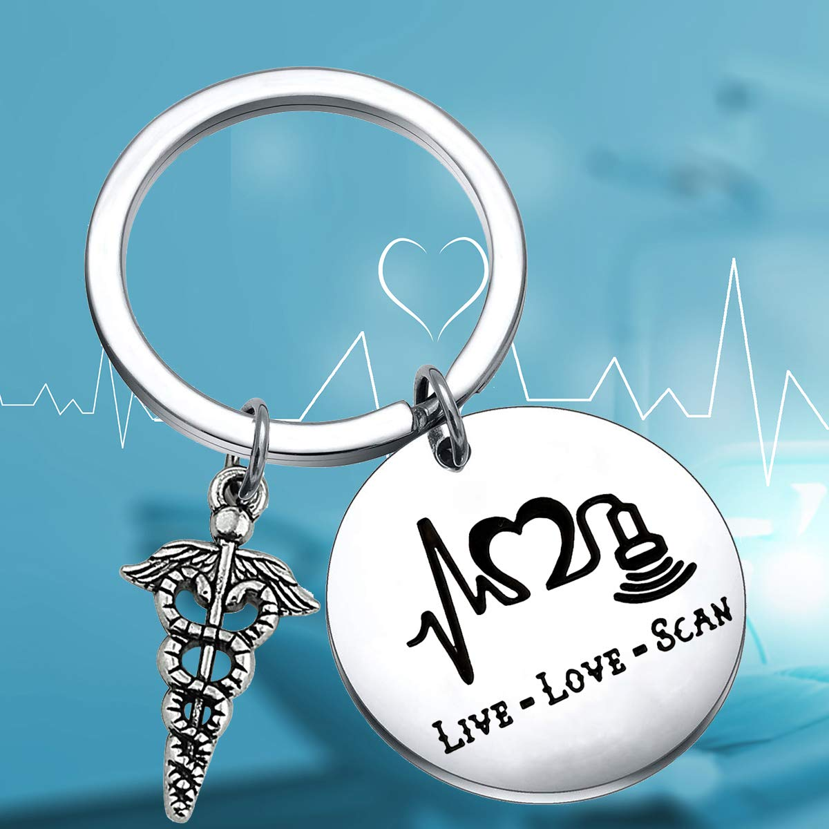 Amazon.com: ENSIANTH Sonographer Regalo Live Love Scan ...