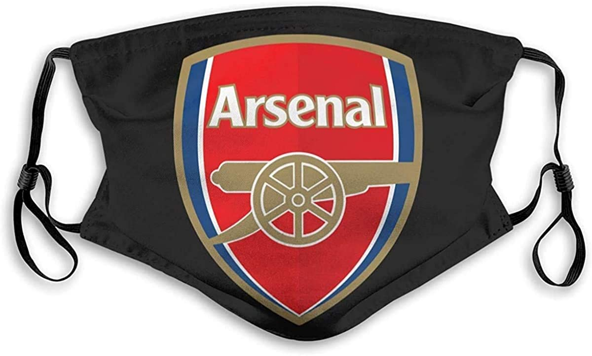 Arsenal Soccer Covers Face Protection Decoration with 2 Filter Chip Balaclava Bandana