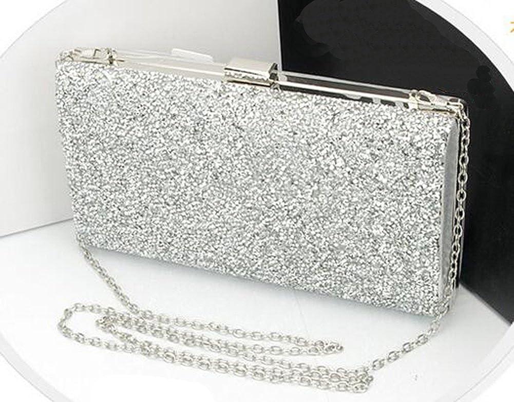 Hflove Ladies Diamante evening bag bride package Diamond hand bag 3 color