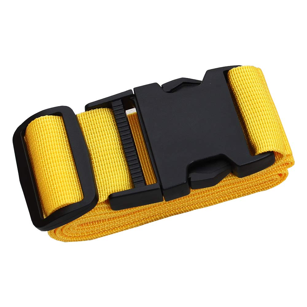 Adjustable Travel Luggage Strap, Nylon Suitcase Belt Luggage Tage Set to Keep Your Luggage Organized and Secure, 43''-78'' Adjustable/Yellow by muyan (Image #1)