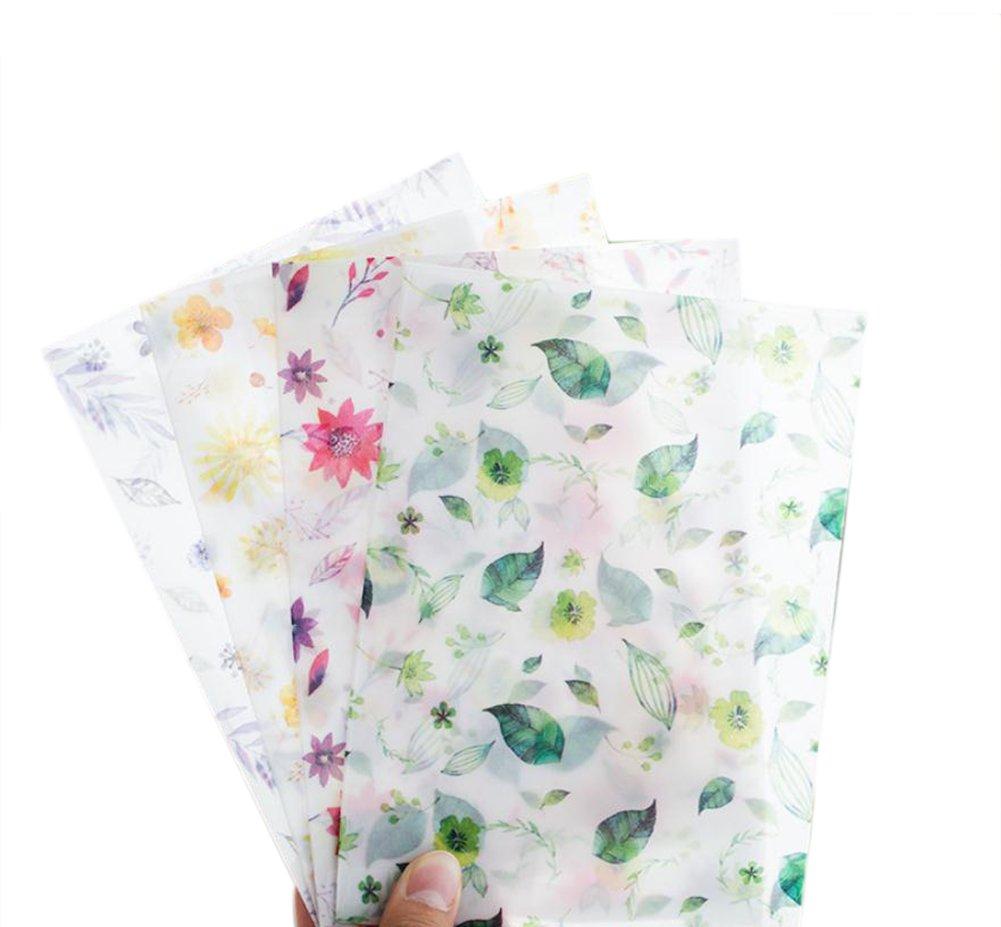 8x Toruiwa busta Painted Flower leaves pattern carta busta per biglietto d' auguri cartolina invito lettera DIY regalo sacchetto 12.5*17.5cm