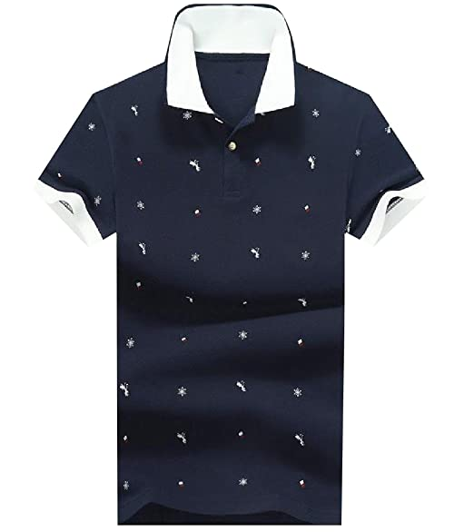 Honey GD Mens Slim Fit Cotton Contrast Color Round Neck T-Shirt Top