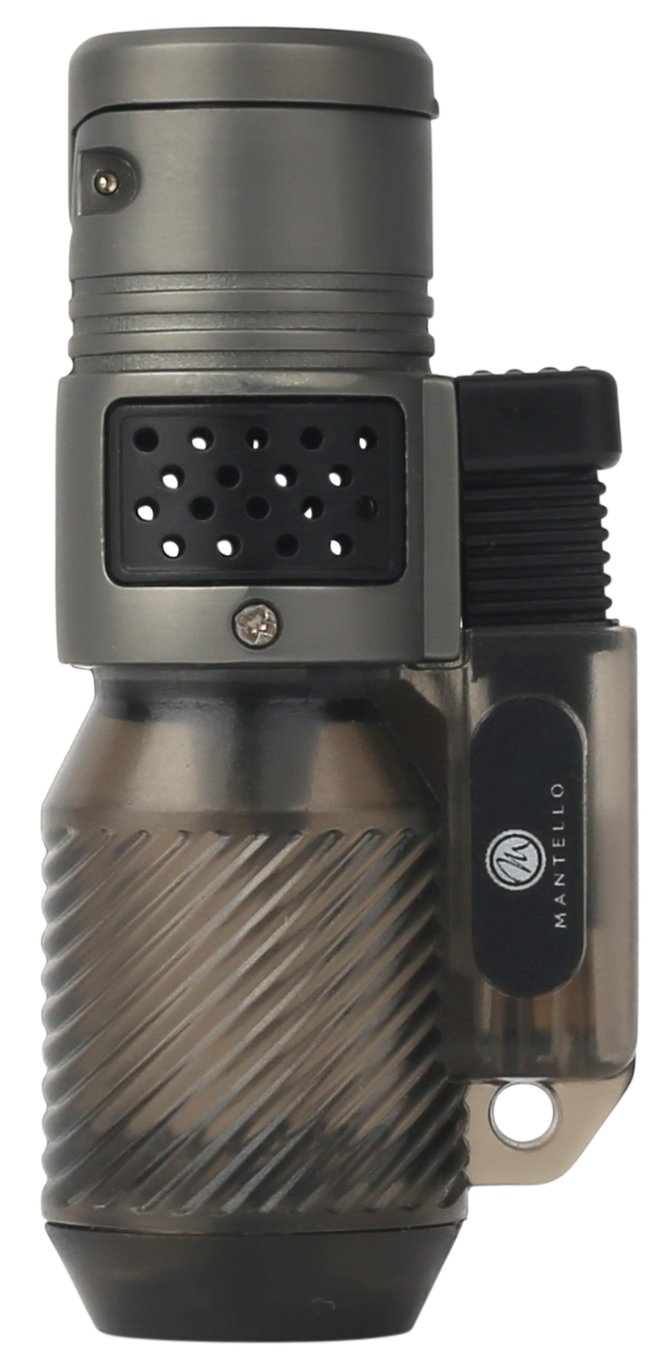 Mantello Cyclone Torch Lighter Bundle, 2 - Triple Jet Flame Butane Cigar  Torch Lighters with 1 - Colibri Premium Butane Fuel Refill Can 3 04 oz