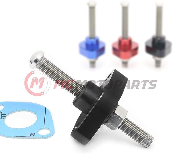 Black MC MOTOPARTS CNC Adjustable HP Manual Cam Chain Tensioner ...
