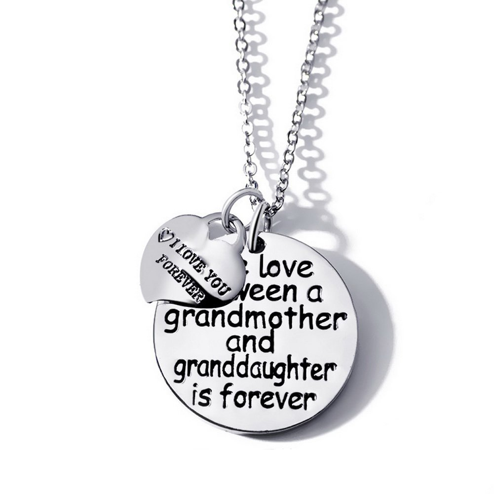 The Love Between a Grandmother and Granddaughter is Forever and I love You Forever Pendant Necklace BLERA UK_B07569CZ8S