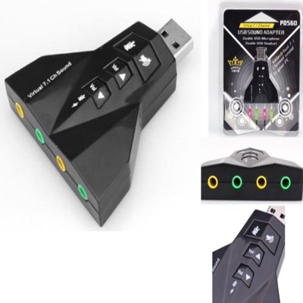Amazon.com: Adaptador USB a 3d tarjeta de sonido externa ...