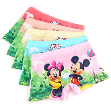 Girls Shorts Stye Briefs with Disney Minnie and Mickey Mouse detail