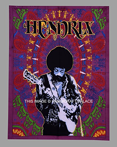 Jimi Hendrix in studio Poster Print Music Guitar Print Wall Hanging Indian Decor Cotton Poster Yoga Mat Tapestry By Handicraft-Palace