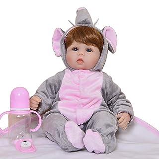 AFYH Bambola Reborn,Modelli di Esplosione 22 Pollici - Bambole di rinascita - Simulazione Bambino - Partner di Crescita Bambino - Resistente al morso - Sicuro e innocuo.
