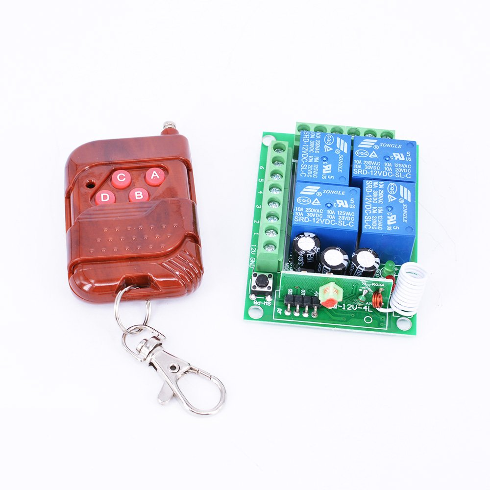 Hot Thunbird New 12v 4 Channel Wireless Remote Control Receiver Relay Switch Gets Momentary