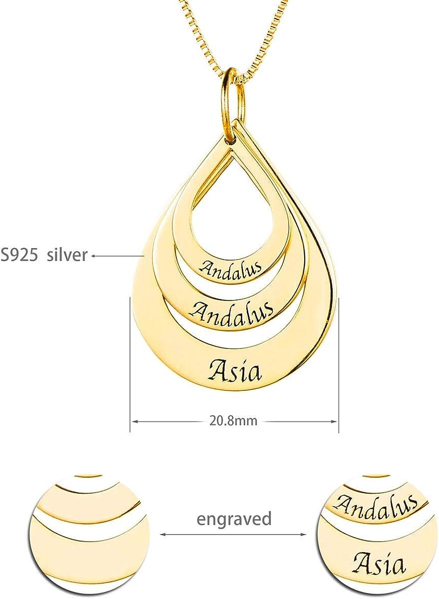 HooAMI 925 Silber Personalisierte Halskette Namenskette Mit