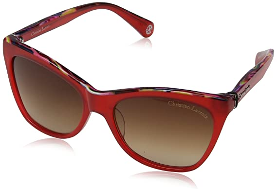 594214dc03c907 Christian Lacroix Sunglasses CL5053, Lunettes de Soleil Femme, Rouge  (Red Arty)