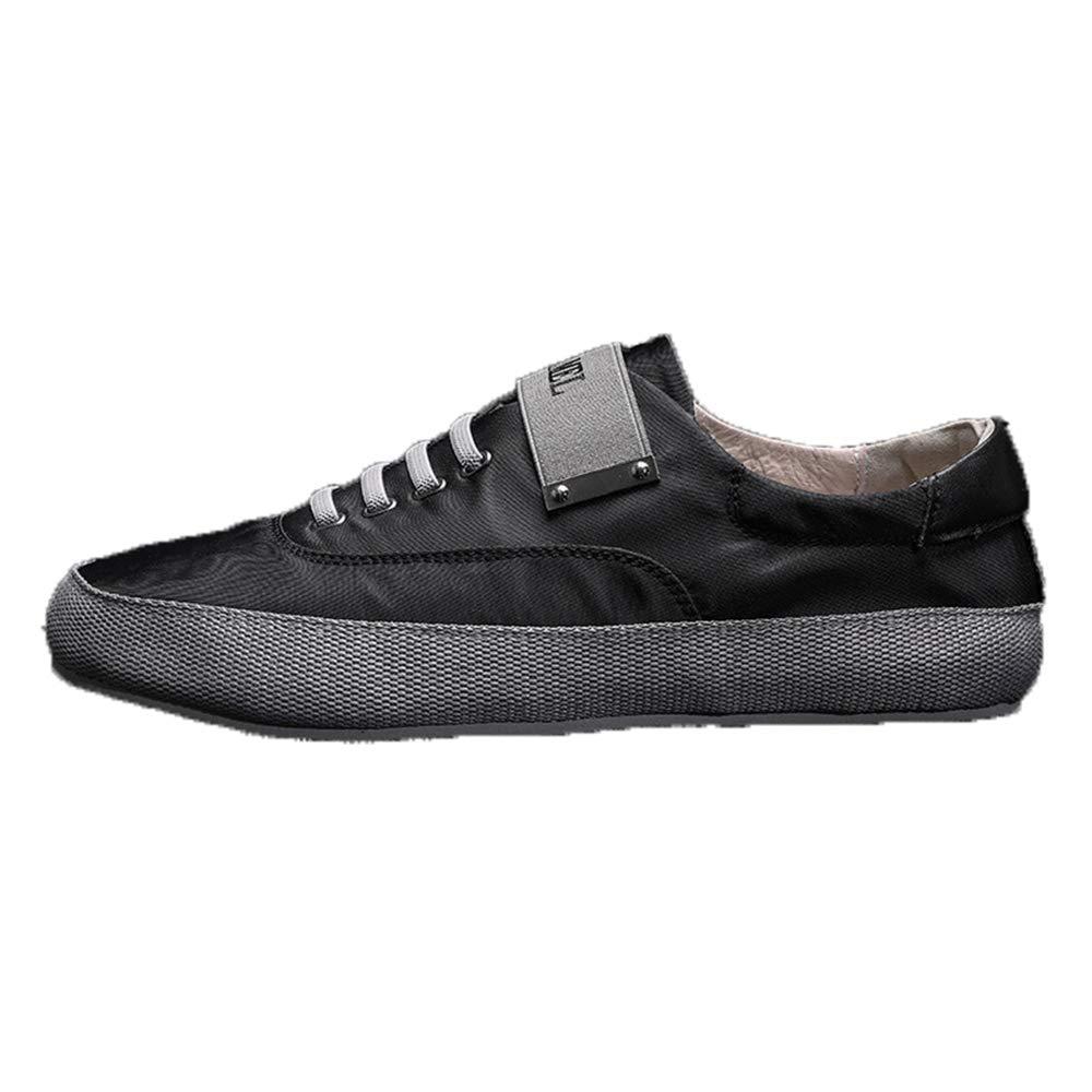 Qiusa Herren Slip auf Casual Breathable Schuhe weiche Sohle Non Slip Daily Driving Schuhe (Farbe   Schwarz, Größe   EU 41)