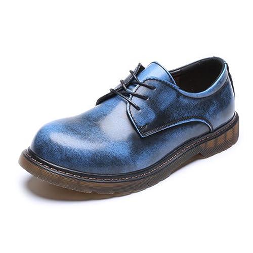 XHD-Mens Shoes Zapatos de Hombre Simple Loafer Botines Bajos de Cuero Genuino Tamaño Grande
