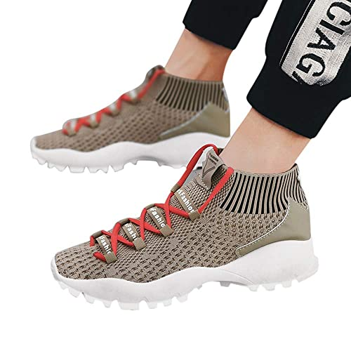 8627e6325d Amazon.com | NIUJIN Men Women Unisex Casual Sneakers Breathable Athletic  Mesh Casual for Walking Work Daily Running Yoga | Shoes