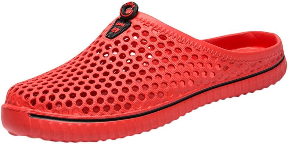Men Women Unisex Classic Casual Shoes Couple Beach Hole Sandal Pure Color Flip Flops Breathable Sneakers By BOLUBILUY