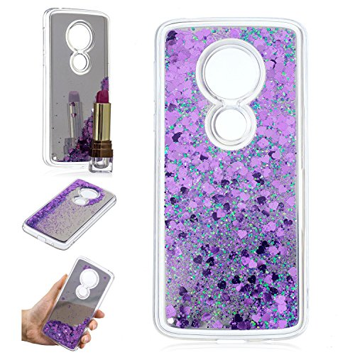 Moto E5 Case, Moto G6 Play Case, KMISS Mirror Luxury Glitter Liquid Floating Bling Sparkle Mirror Bumper Protective Cover Motorola Moto E (5th Gen) / Moto G6 Play - Phone Cases Nokia For 635 Girls