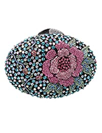 Fawziya Big Rhinestones Flower Clutch Purses And Handbags For Girls