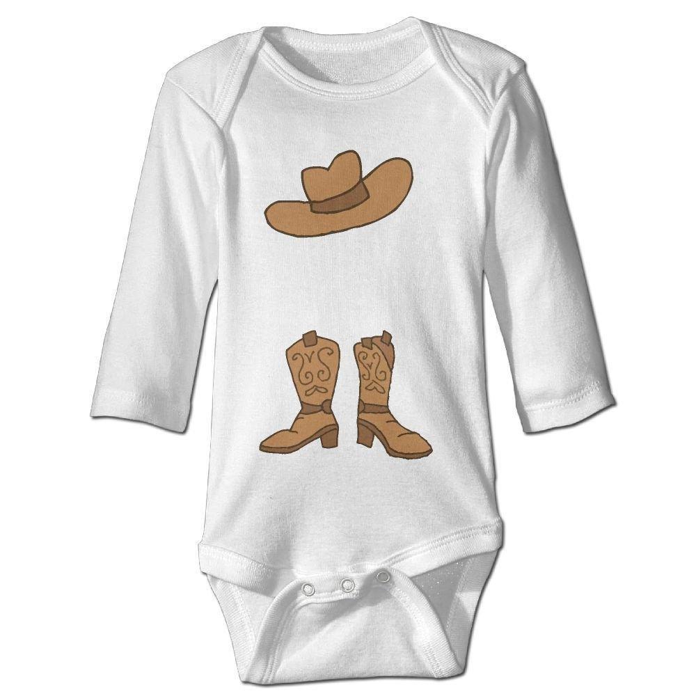 braeccesuit Babys Cowboy Hat Boots Long Sleeve Romper Onesie Bodysuit Jumpsuit