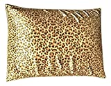 Sweet Dreams - Blissford 2-Pack Luxury Satin Pillowcase with Zipper, King Size, Leopard Print (Silky Satin Pillow Case for Hair) By Shop Bedding