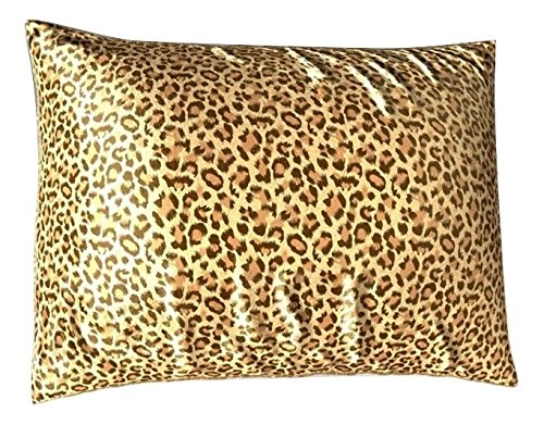 Leopard Print Pillows (Sweet Dreams 2-Pack Luxury Satin Pillowcase with Zipper, King Size, Leopard Print (Silky Satin Pillow Case for Hair) By Shop Bedding)
