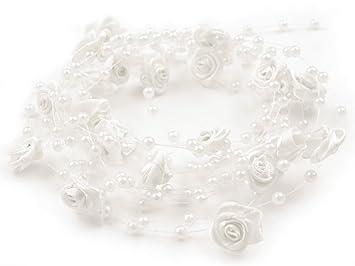 Hochzeit & Besondere Anlässe Perlen Dekoperlen Perlenkette Tischdeko Hochzeit Floristik Deko Weiss