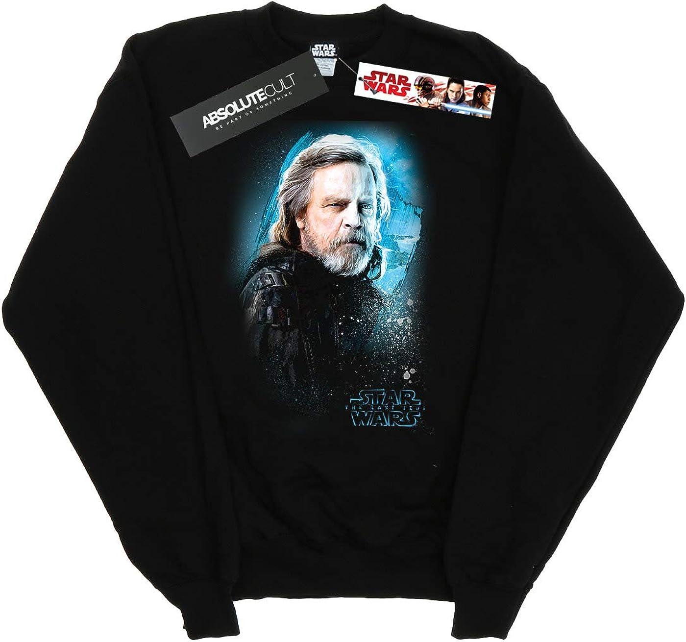 Star Wars Girls The Last Jedi Luke Skywalker Brushed Sweatshirt 5-6 Years Black