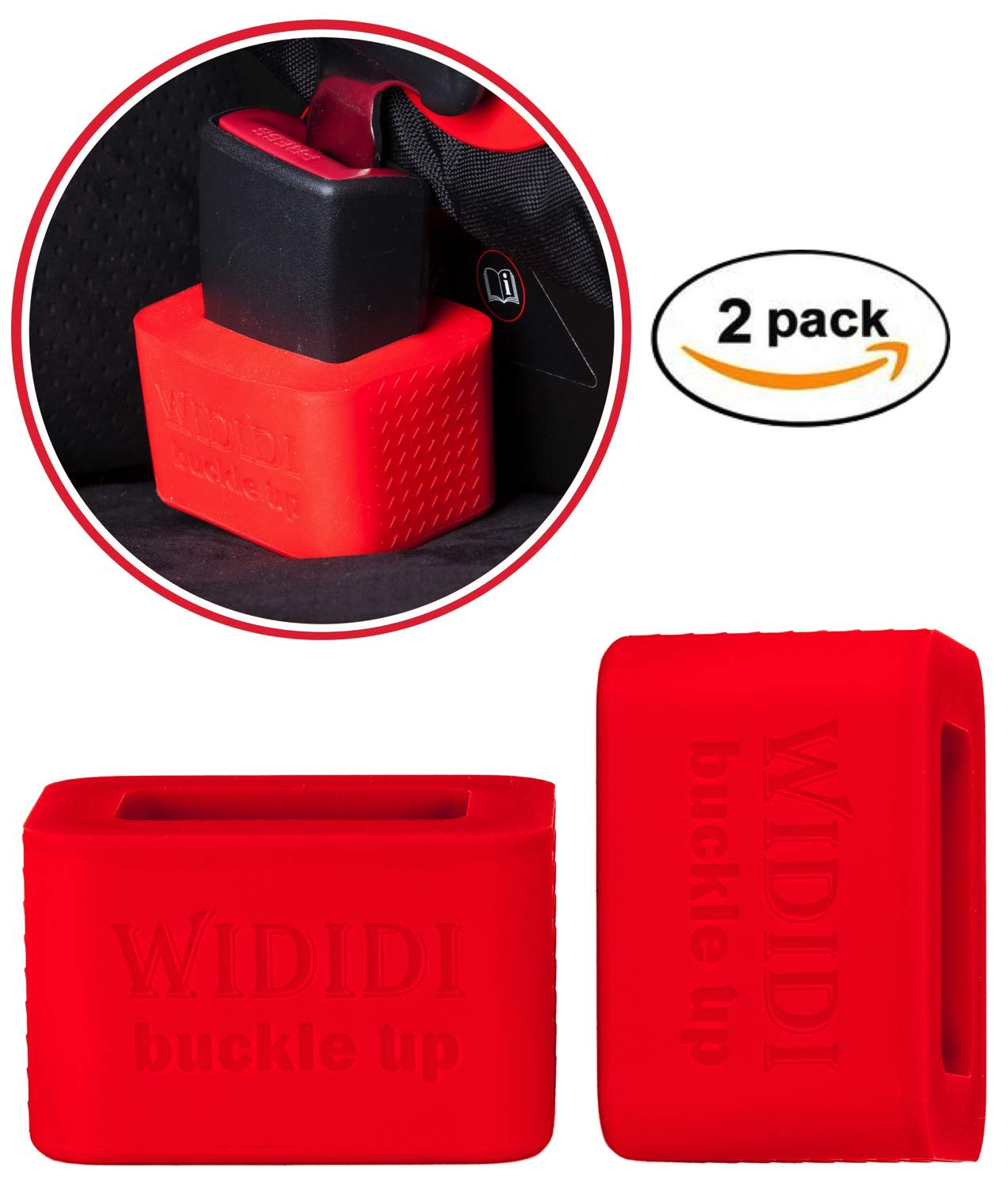 2 Pack Car Seat Belt Buckle Holder By Wididi Buckle Up Soft Silicone Easy Installation Holds Seatbelt
