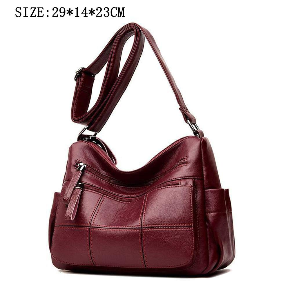 Defect Damen Damen Damen Handtaschen Quadratische Nähte PU-Leder einzigen Messenger Umhängetasche 29  14  23 cm B07GYJSFMZ Henkeltaschen Neuer Markt 8bb0a0