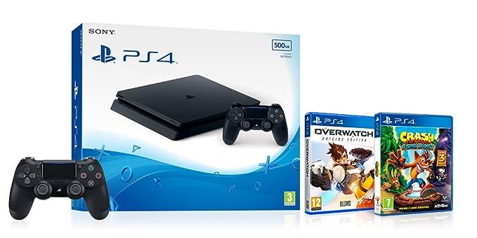Sony PlayStation 4 (500GB) + Overwatch + Crash Bandicoot N Sane
