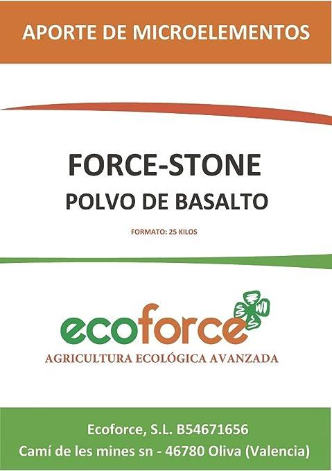 cultivers by ecoforce Force Stone, harina de Roca (Polvo de basalto) 20Kg