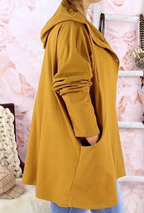 OTW Mens Mid Length Hooded Cardigan Coat Camo Plus Size Trench Coat Jacket Overcoat