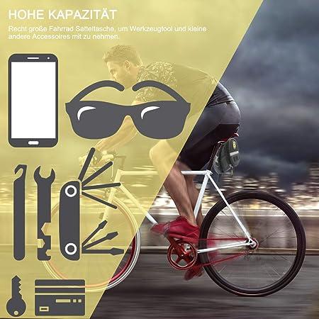 Mini Bomba Set Completo Parches Autoadhesivos Bolsa Bici Herramientas para Reparaci/ón de Bicicletas 28 en 1 Herramientas Multifunci/ón Multiherramienta Llaves Palanca de Neum/áticos