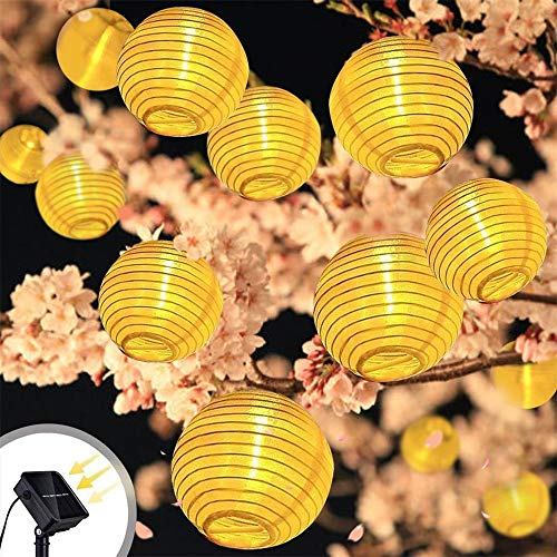 Solar Lanterns String Lights, Spardar Fairy Lights 19.7ft 30LED Outdoor Solar Lights, Waterproof Garden Lantern for Christmas, Garden, Home, Yard, Par (30led -19.7ft, Warm White) by Spardar