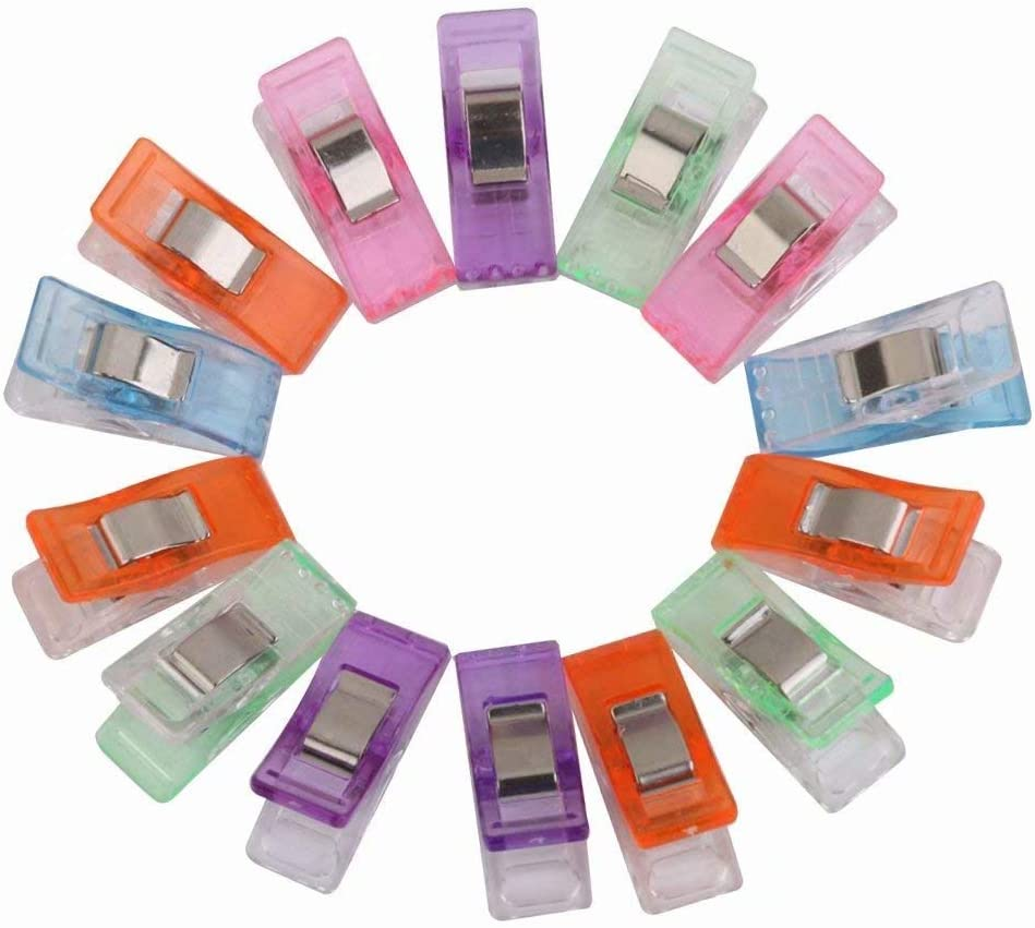50 Stoffklammern Wonder Clips mehrfarbig N/ähen Zubeh/öre Kunststoff Patchwork Buckle Multi-Use N/ähmaschinenhelfer Kurzwaren